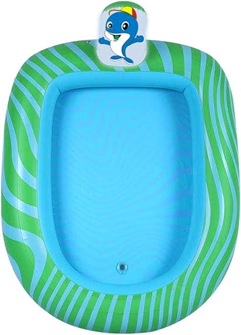 Donshvi Piscina Inflable Fuente Infantil, los niños del Verano al Aire Libre/jardín/Playa Palmetazos Juego,Dolphin,173 x 105cm: Amazon.es: Hogar