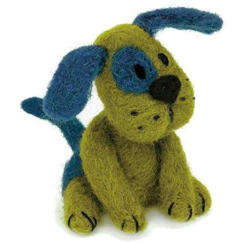 Dimensions Green Puppy Felt Animals Needle Felting Kit, 3'' x 2.5'' ()