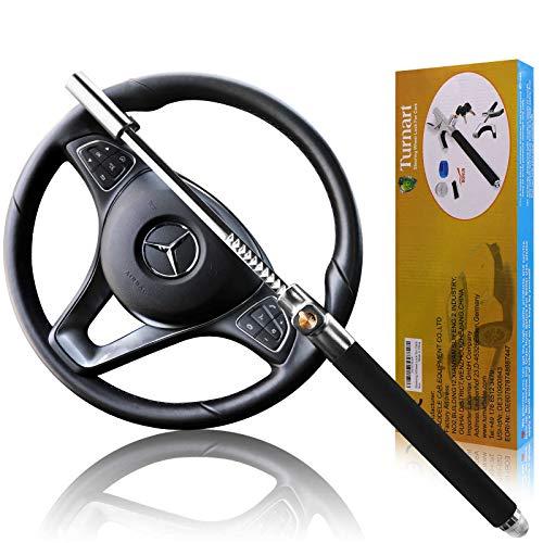 Turnart Steering Wheel Lock Universal Car Lock Anti-Theft Device Retractable Steering Lock With 3 Keys For Auto/Truck…