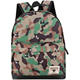 Stheanoo Children School Backpack Baby Boys Girls Camouflage Pattern Print Backpack Camo Mini School Bags for Students (Green)