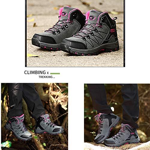 FEOZYZ Womens High Top Waterproof Hiking Boots QLMXZY's 1008 Trekking & Hiking Footwear