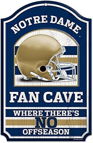 Notre Dame Fighting Irish Wincraft Collegiate Fan Shop Authentic NCAA Fan Cave Wooden Sign