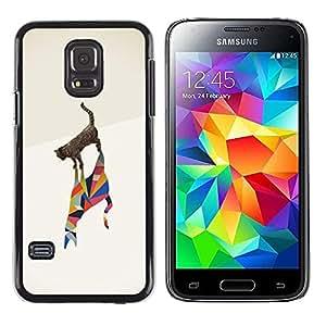 Be Good Phone Accessory // Dura Cáscara cubierta Protectora Caso Carcasa Funda de Protección para Samsung Galaxy S5 Mini, SM-G800, NOT S5 REGULAR! // Cat Poly Art Minimalist Metapho