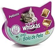 Petisco Whiskas Temptations Anti Bola de Pelo Para Gatos Adultos 40g