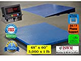 Selleton 5000 Lb X 1 Lb 5'X4' (60'' X 48'') Floor Scale / Pallet Scale With Ramp