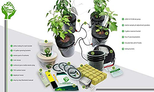 ❥ DWC Deep Water Culture Hydroponic System! Ten Green Fingers Easy to use Complete with 4 Bucket Growing Sites! Hydroponic System 14