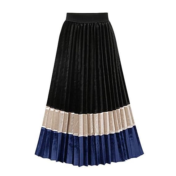 Falda Plisada Estampado Mujer Fiesta Elegante Vintage/💖QIjinlook ...