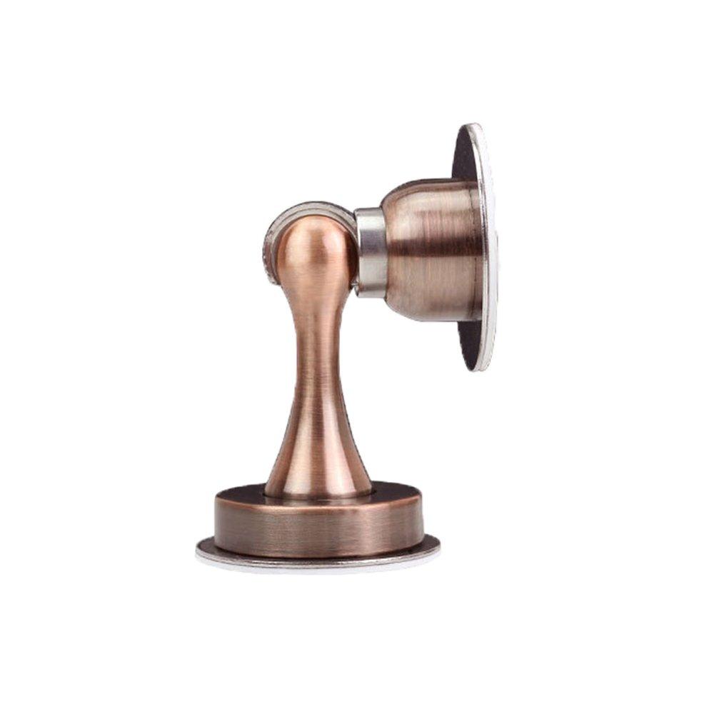 ZXHAO Stainless Steel Door Stop Catch Holder Doorstop Tools for Home and Office (Red Antique Copper)