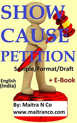Amazon Com Show Cause Petition Sample Format Draft Ebook