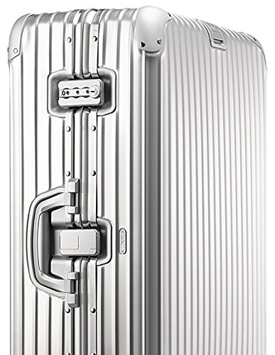 Rimowa Topas Carry on Luggage IATA 20'Inch Cabin Multiwheel TSA Lock Spinner 32L Suitcase - Silver