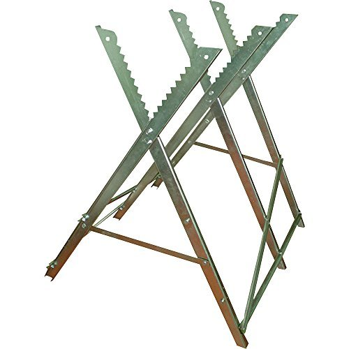 Ironton Adjustable Steel Sawhorse - 330-Lb. Capacity