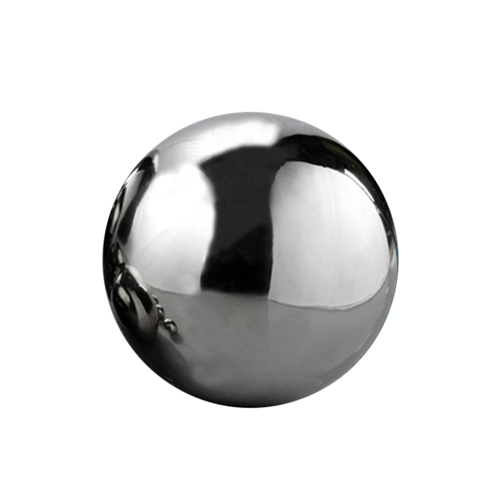 Aneil 8 Inch Stainless Steel Gazing Ball Seamless Mirror Balls Sphere Hollow for Outdoor Garden