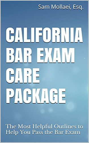 California Bar Exam Care Package: The Most Helpful Outlines to Help You  Pass the Bar Exam With Ease