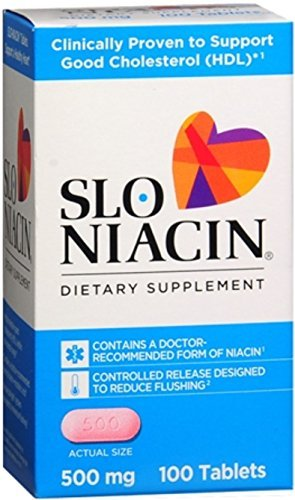 Slo-Niacin 500 mg Tablets 100 Tablets (Pack of -