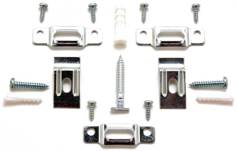 picture frame security hardware complete sets for wood or metal frames up to 60 wide ten 10 complete sets with wrench amazoncom - Wrench Picture Frame