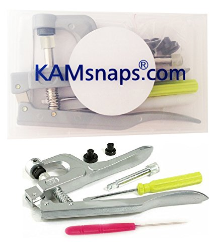 Check Out This KAMsnaps Hand Pliers Press Tool w/ Storage Case for Plastic Snaps Size 14, 16, 20, 22...