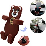 Sticky Car Phone Holder, Strong Adhesive Phone Mount with 360 Rotation, Cell Phone Car Cradle with Sticky Base Adjustable Design for Smartphones, Mini Tablets - Brown [for Kitchen, Bedside, Bathroom]