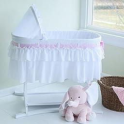 Baby Bassinets Furniture White Nursery Newborn Sleeper Bed