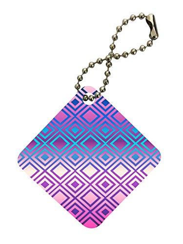 Purple Pyramid Design Diamond Keychain by Moonlight Printing