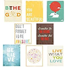 Inspire Mini Collection 11x14 Inch Print Wall Cards, Typography, Nursery Decor, Kid's Wall Art Print, Kid's Room Decor, Gender Neutral, Motivational Word Art, Inspirational Artwork for Kids