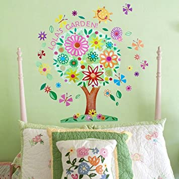 Amazon.com: Oopsy Daisy Flower Tree Peel and Place Wall Art, 54 by ...