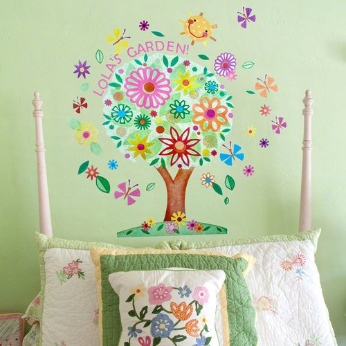 Oopsy Daisy Flower Tree Peel and Place Wall Art, 54 by 45
