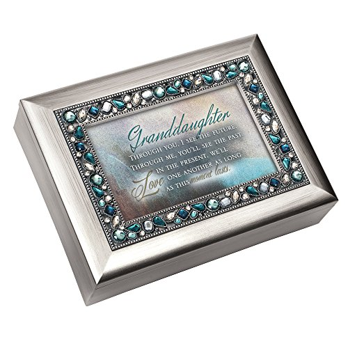 Granddaughter Cottage Garden Jeweled Musical Music Jewelry Box Plays You Light Up My Life