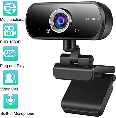 🥇 Kdely Webcam PC Full HD 1080P con Micrófono Estéreo