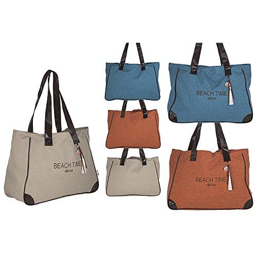 Bolsa di Playa con ASA Elegante diseño Original Tres Colores Hogar Y más–Beige