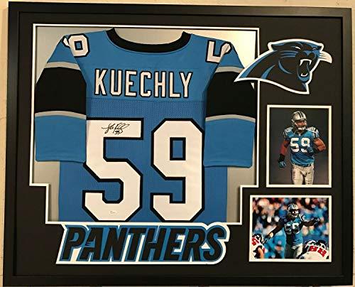 (Luke Kuechly Autographed Signed Custom Framed Carolina Panthers Jersey 1 Memorabilia - JSA)