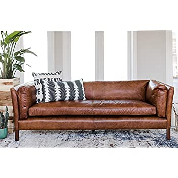 Attrayant Modern Leather Sofa By Edloe Finch   Mid Century Modern Couch   Top Grain  Brazilian Sofa