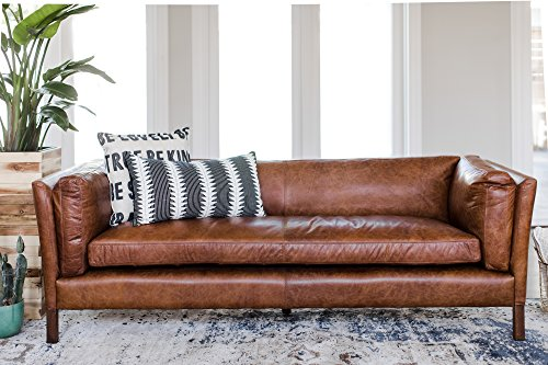 Lovely Amazon.com: Edloe Finch Modern Leather Sofa   Mid Century Modern Couch    Top Grain Brazilian Leather   Cognac Brown: Kitchen U0026 Dining