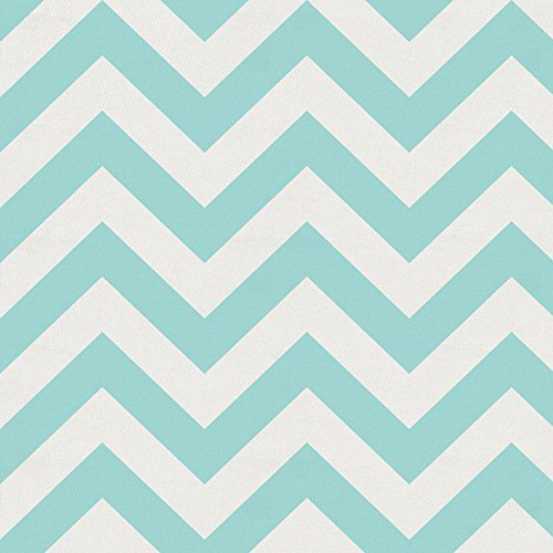 Carousel Designs Seafoam Aqua Chevron Fabric by the Yard - Organic 100% Cotton