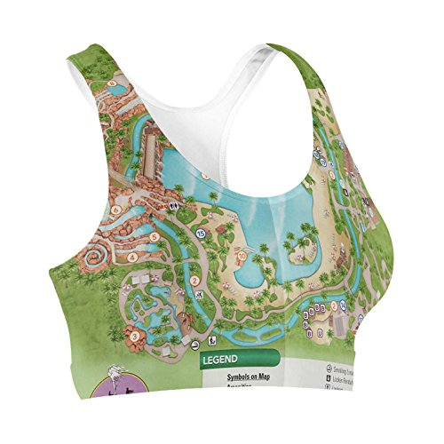 Typhoon Lagoon Map Sports Bra - - Of Lagoon Typhoon Map