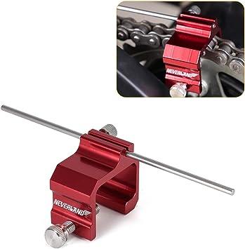 Heavy Duty Universal Red Chain Adjusting Alignment Tool Motorcycle Motorbike ATV