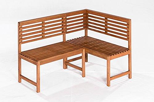 Eckbank LINZ 142x100cm, Eukalyptus geölt, FSC®-zertifiziert