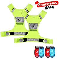 JQP Sports Running Vest and 4 LED Safety Light Sets...