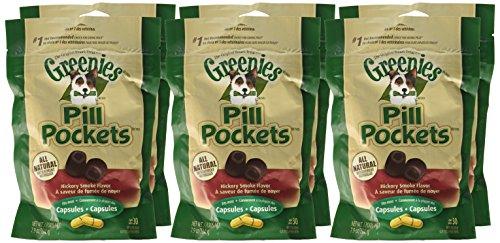 Greenies Canine Pill Pockets Hickory Smoke Tablet 30/Pk - 6 Pack