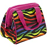 Fit & Fresh Riley Insulated Lunch Bag with Zipper, Rainbow Zebra