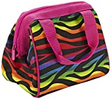 Fit & Fresh Kids Riley Insulated Lunch Bag, Rainbow Zebra