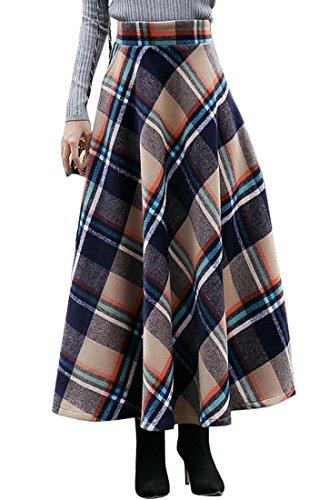 Vintage Wool Plaid Skirt - 7