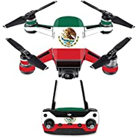 Skin for DJI Spark Mini Drone Combo - Mexican Flag| MightySkins Protective, Durable, and Unique Vinyl Decal wrap cover | Easy To Apply, Remove, and Change Styles | Made in the USA