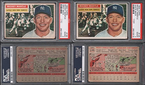 1956 Topps Regular (Baseball) Card# 135 Mickey Mantle (psa) of the New York Yankees Good Condition