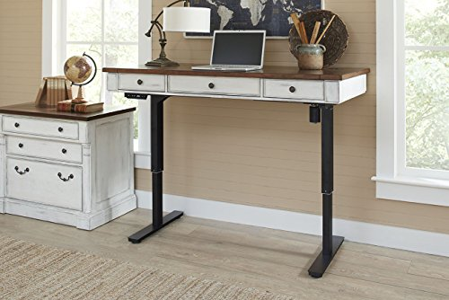 Martin Furniture IMDU384T-Kit Durham Sit/Stand Desk, White