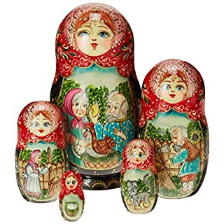 G. Debrekht Golden Egg Nested Doll, 6""