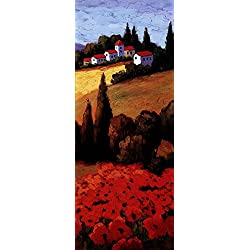 Tuscan Poppies Panel II by Parrocel Art Print, 8 x 20 inches