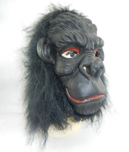 XY Fancy Halloween Funny Mask,Gorilla with Big Ears Mask Animal Costume Toys Smile (Really Scary Halloween Costumes For Kids)