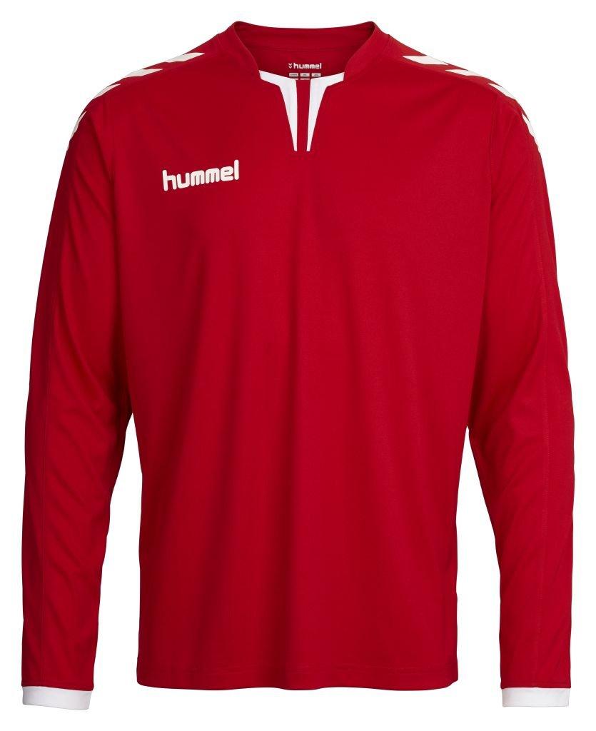 HummelメンズCore Long Sleeve Jersey B01AOP0UCS X-Large|スカーレット/ホワイト スカーレット/ホワイト X-Large, トミカチョウ 68bafd88