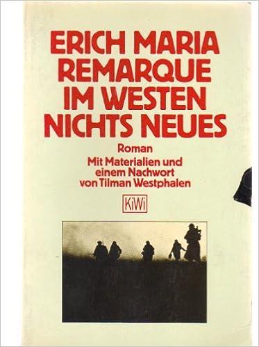 Buy Erich Maria Remerque In Westen Nichts Neues Book Online