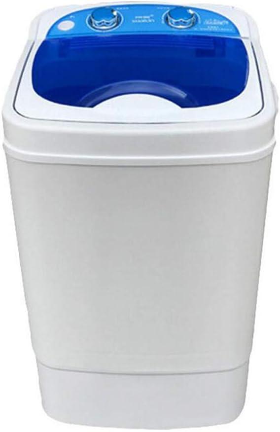 LSYOA Semi-Automatic Lavadora, 15lbs Lavado Capacidad Centrifugadora Secadora Multifuncional Compacta El Ahorro de energía Diseño Mini Lavadora Carga Frontal,Blue